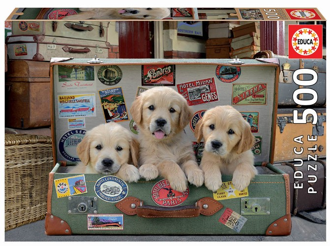 Puppies in the Luggage 500 Teile