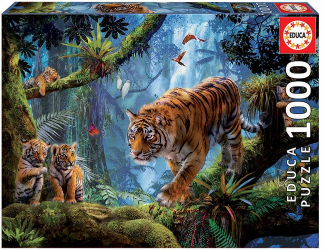 Tigers in the Tree 1000 Teile